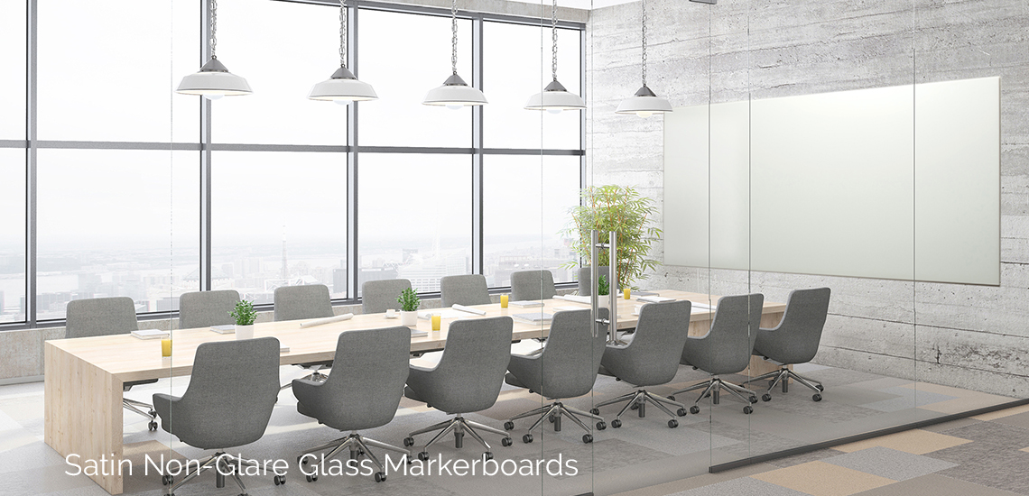 Satin Non-Glare Glass Markerboards